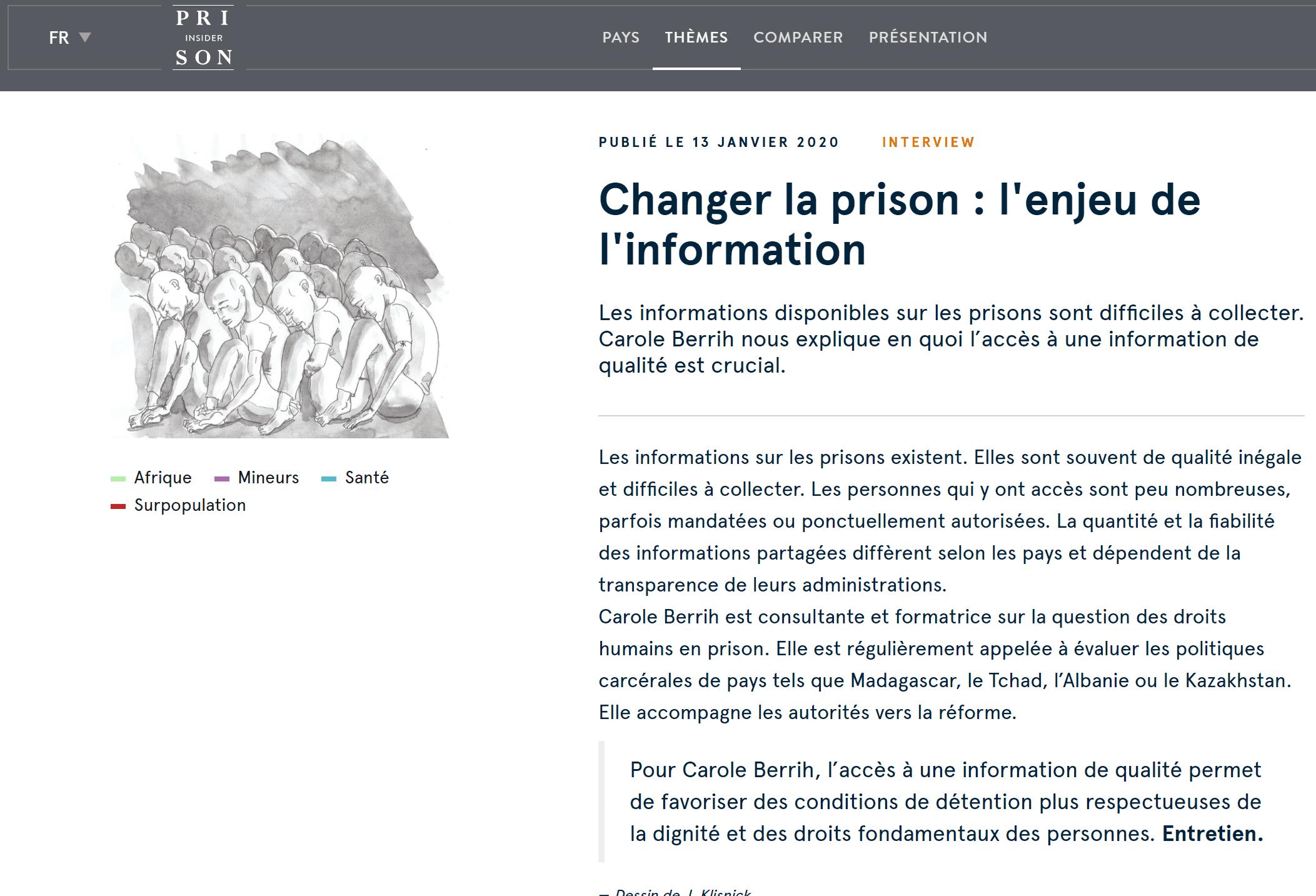 Interview Prison Insider